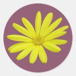 pegatina amarillo de la margarita