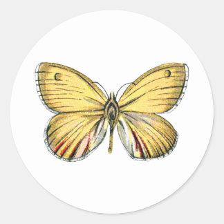 Pegatina amarillo de la mariposa
