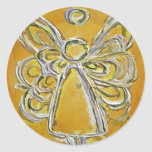 Pegatina amarillo del ángel