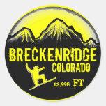 Pegatina amarillo del arte de la snowboard de