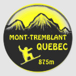 Pegatina amarillo del arte de la snowboard de Mont