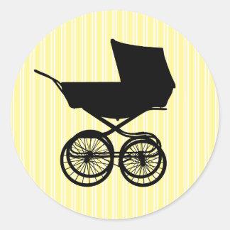 Pegatina amarillo del cochecillo de bebé