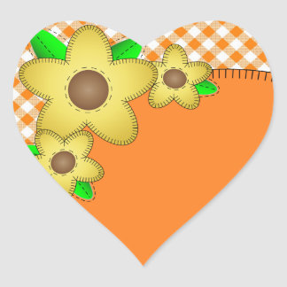 Pegatina amarillo del corazón del fondo de la