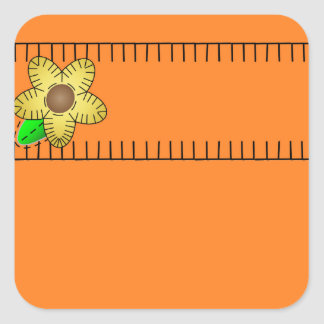 Pegatina amarillo del cuadrado del fondo de la