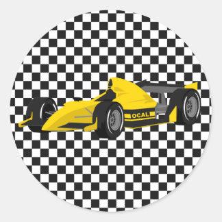 Pegatina amarillo del cumpleaños del coche de