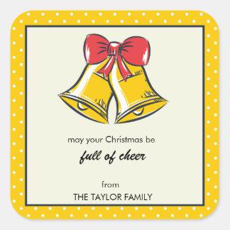 Pegatina amarillo del día de fiesta de los lunares