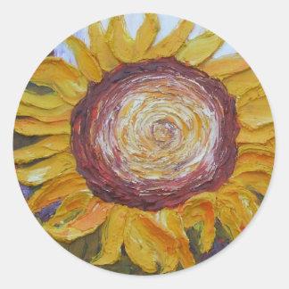 Pegatina amarillo del girasol