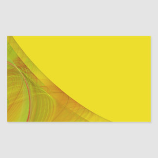 Pegatina amarillo del rectángulo del fondo del