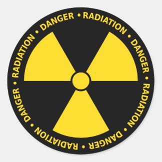 Pegatina amarillo del símbolo de la radiación