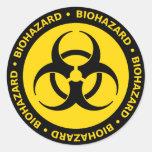 Pegatina amarillo del símbolo del Biohazard
