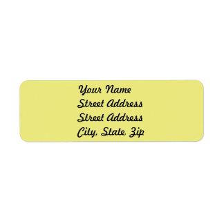 Pegatina amarillo en colores pastel ligero del etiqueta de remitente