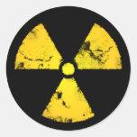 Pegatina amarillo resistido del símbolo de la
