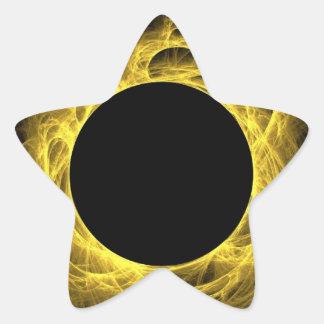 Pegatina amarillo y negro de la estrella del fondo