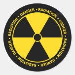 Pegatina amarillo y negro del símbolo de la