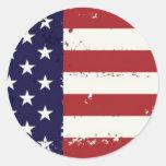 Pegatina americana de la bandera americana