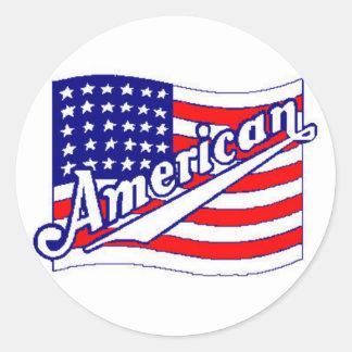 Pegatina americano