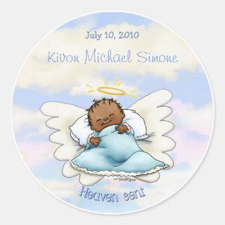Pegatina americano africano del bebé del ángel