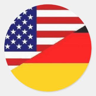 Pegatina americano alemán de la amistad
