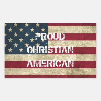 Pegatina americano cristiano orgulloso