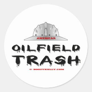 Pegatina americano de la basura del campo