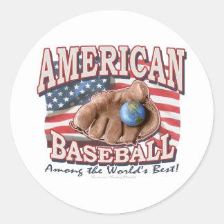 Pegatina americano del béisbol