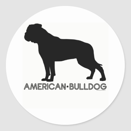 Pegatina americano del dogo