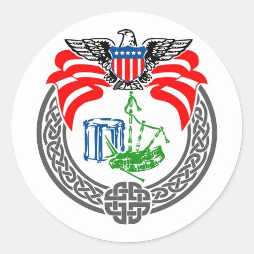 Pegatina americano del logotipo del círculo de los