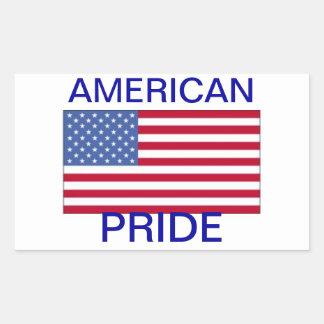 Pegatina americano del orgullo