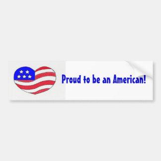 Pegatina americano del Orgullo-Parachoque Pegatina Para Auto