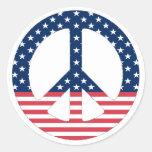 Pegatina americano del signo de la paz