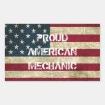 Pegatina americano orgulloso del mecánico