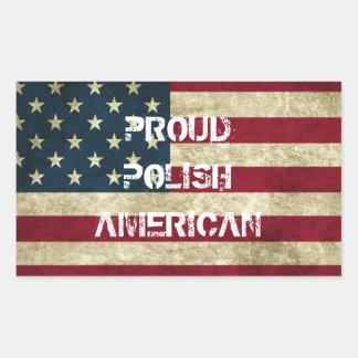 Pegatina americano polaco orgulloso