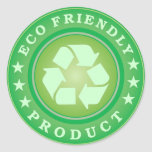 Pegatina amistoso del producto de Eco