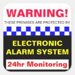Pegatina amonestador de la alarma