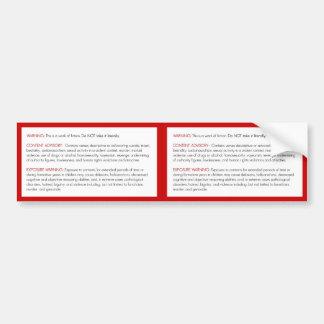 Pegatina amonestador de la biblia etiqueta de parachoque