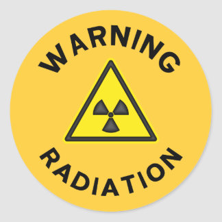 Pegatina amonestador de la radiación