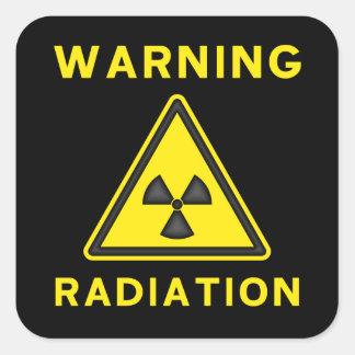 Pegatina amonestador de la radiación amarilla y ne