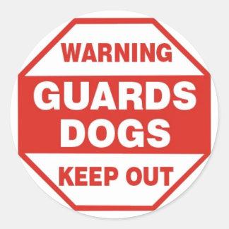 Pegatina amonestador de la seguridad del perro
