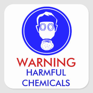 Pegatina amonestador de las sustancias químicas
