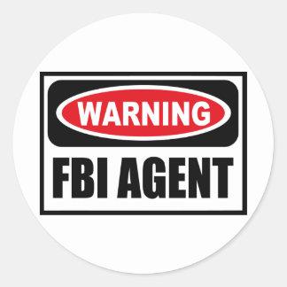 Pegatina amonestador del AGENTE DEL FBI