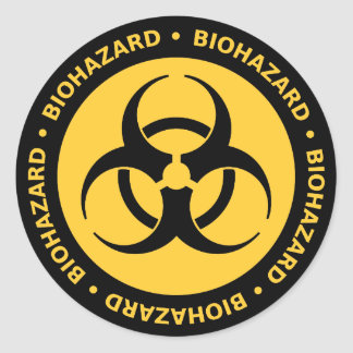Pegatina amonestador del Biohazard