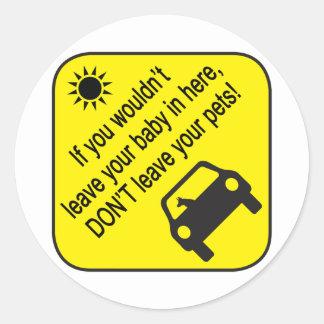 Pegatina amonestador del calor del coche del