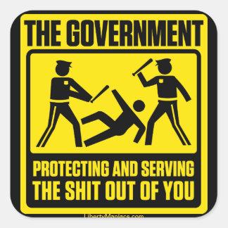 Pegatina amonestador del gobierno