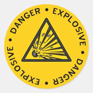Pegatina amonestador explosivo