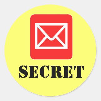 Pegatina amonestador secretísimo confidencial