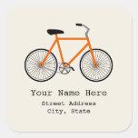 Pegatina anaranjado de la dirección de la biciclet