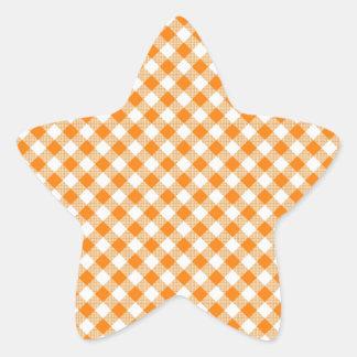 Pegatina anaranjado de la estrella del fondo de la