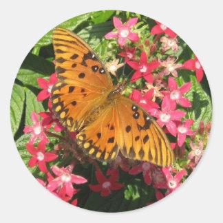 Pegatina anaranjado de la mariposa
