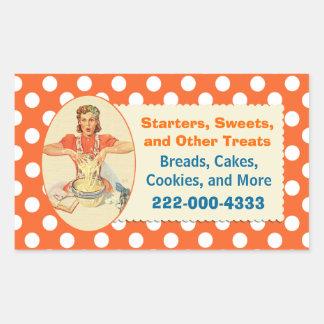 Pegatina anaranjado de la panadería del lunar del