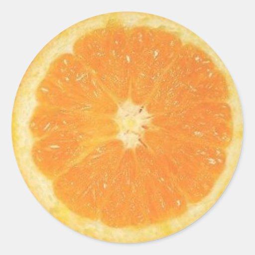 Pegatina anaranjado de la rebanada
